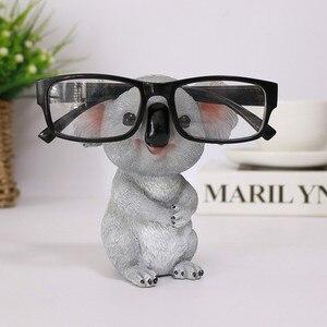 Cute koala estatuetas animais estátuas resina óculos de sol titular titular recipiente de desktop decoração para casa presentes criativos
