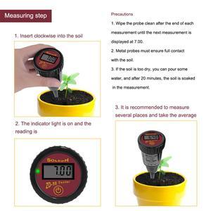Image 5 - Yieryi novo ZD 18 handheld medidor de umidade do solo com ph medidor faixa de ph 3 88ph, faixa de umidade 1 8 8 para carne de ovo de fruto