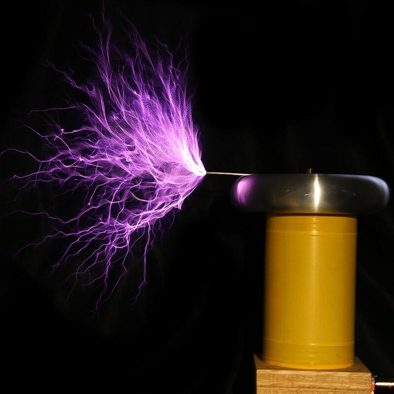 Bobine Tesla fini musique haute fréquence modèle générateur d'allumage kit de bricolage carte d'entraînement foudre - 5