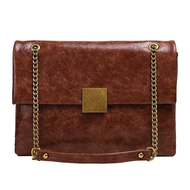 Bag Leather Vintage Shoulder Purse Crossbody Brown Tote Large Brown Handbag