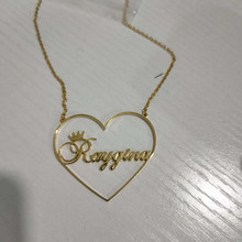 Customize Romantic Heart Name Necklace For Women Girl Jewelry Custom Nickname Pendant Necklace Personalized Wedding Gifts 1997(China)