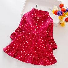 Утепленные хлопковые платья для маленьких девочек женская одежда