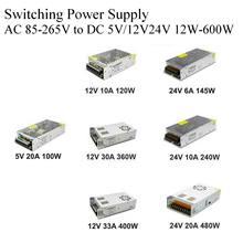 Transformador leve ac 110v 220v da fonte de alimentação do interruptor de kaypw para dc 5v 12v 24v 48v adaptador da fonte de alimentação para o cctv da tira conduzida