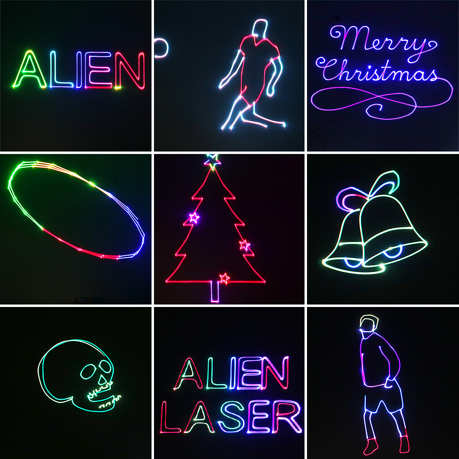 Image 5 - ALIEN RGB Bluetooth APP Remote Animation Laser Projector DMX512 Scanner DJ Disco Party Holiday 500MW 1W 2W Stage Lighting EffectStage Lighting Effect   -