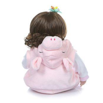 19in Lovely Realistic Reborn Doll Soft Silicone Vinyl Newborn Babies Girl Princess Lifelike Handmade Toy Children Birthday Gifts
