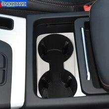 In Acciaio Inox Car Styling Center Console Tazza di Acqua Cornice Autoadesivo Della Decorazione Trim Per Audi Q5 FY 2018 2020 Interno accessori
