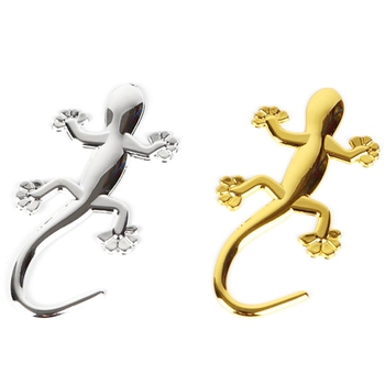 Fashion Gecko Car Stickers Emblem Motorcycle Badge Decal For BMW Nissan Toyota Honda Lizard Styling Auto Accessories image