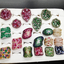 GODKI Monaco Design luksusowe oświadczenie pierścionek do noszenia warstwowego dla kobiet ślub Cubic cyrkon zaręczyny dubaj Punk Bridal Top Finger Rings