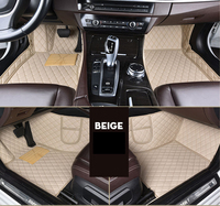 leather car floor mats for Toyota corolla 2007 2014 2015 2016 2017 2018 Custom auto foot Pads automobile carpet cover