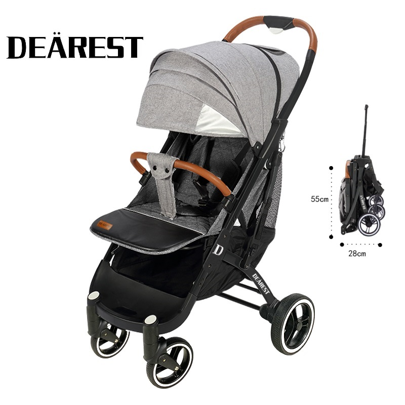 DEAREST Baby Stroller Folding Portable Trolley Big Wheel Umberlla Mini Lightweight Stollers Wholesale Free Shipping