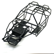 лучшая цена 2019 Black 1/10 Scale RC Metal Frame Roll Cage w/inner Parts Rock Crawler Body Black Chassis Climbing Truck Parts SCX10