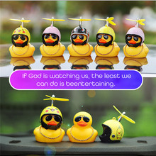 Rear-View-Mirror-Duck-Bell Car-Decorating-Accessories Duck-Helmet Car-Styling Small Without-Light