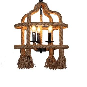 Amerikaanse Vintage Touw-plafond lamp 1