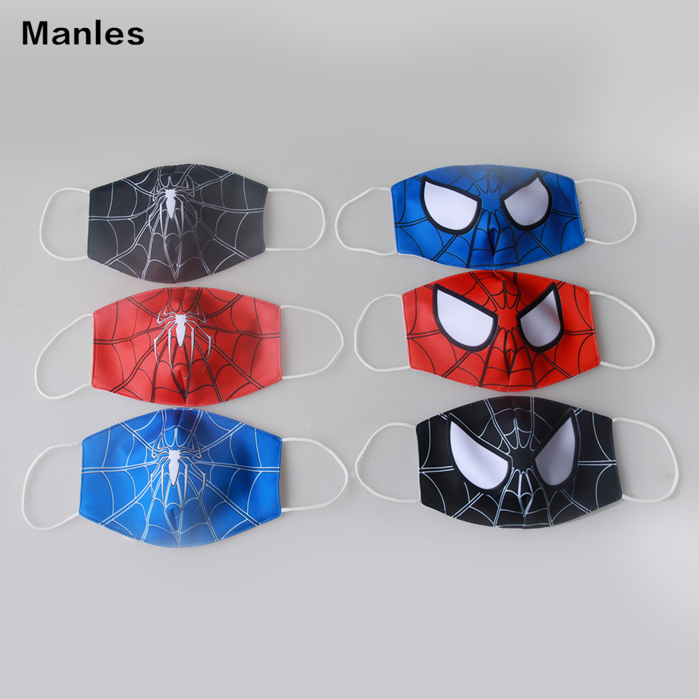 3pcs Marvel Series Captain American Kids Adult Face Mask Dustproof Breathable Anti-fog Haze Mask BOY'S Face Mask Dustproof Kids