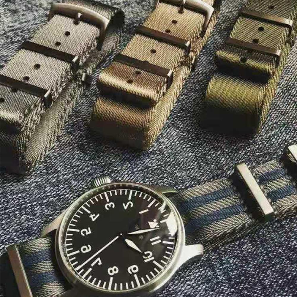 Watch-Band Replacement-Watch Nato-Strap Nylon Seatbelt James-Bond Military-Striped Premium-Quality
