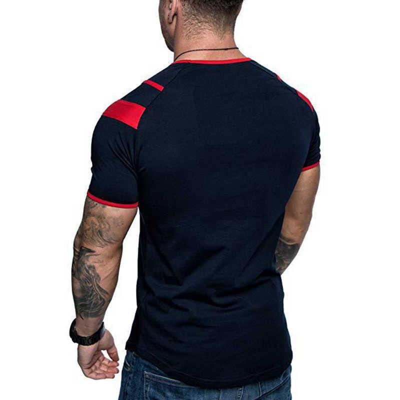 Covrlge hombres corriendo transpirable camiseta gimnasio Fitness entrenamiento camisetas de manga corta para hombre Jogging Delgado secado rápido Tee MTS545