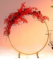 Iron circle Wedding balloon flower stand party table centerpieces flower vase lawn wedding birthday table NO decorative art prop