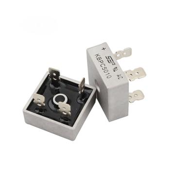 5 unids/lote KBPC5010 de diodo rectificador de puente 50A 1000 V multicomp 5010 diodo rectificador de electrónica componentes
