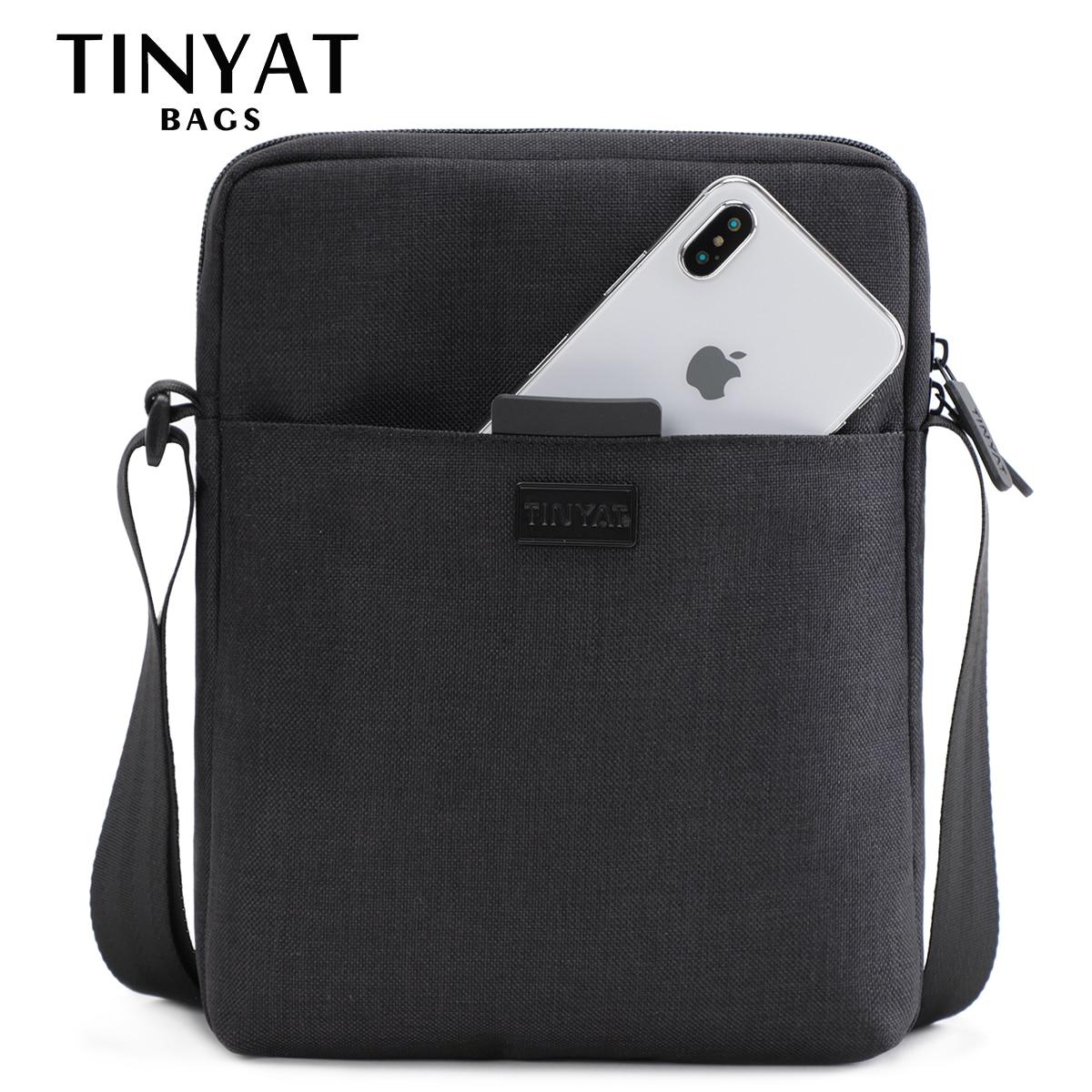Cумка Mужская Мужская наплечная сумка TINYAT, легкая водонепроницаемая наплечная сумка для планшета (7,9 дюймов), 0,13 кг