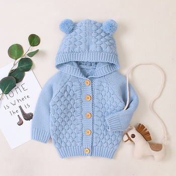 LZH 2020 Autumn Infant Hooded Knitting Jacket For Baby Clothes Newborn Coat For Baby Boys Girl Jacket Winter Kids Outerwear Coat 14
