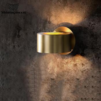 Современные Роскошные Настенные светильники промышленный золотой настенный светильник лестницы настенное бра для коридора лампа прикров...
