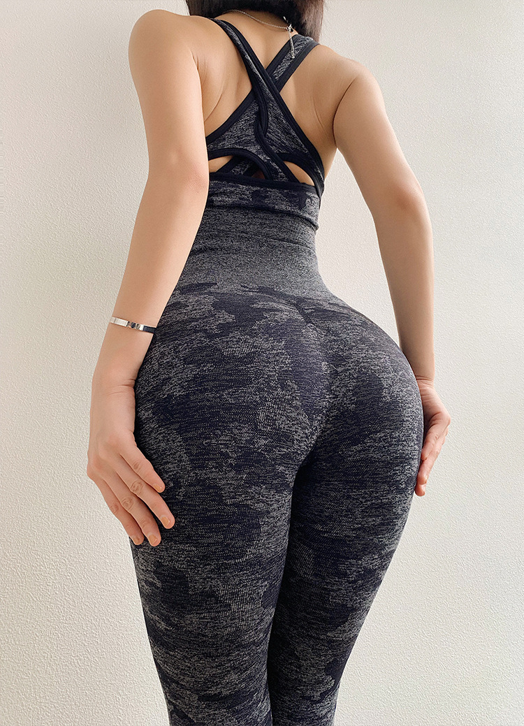 Camouflage Camo Set Wear For Women Gym Fitness Clothing Booty  Leggings Sport Bra Suit 8