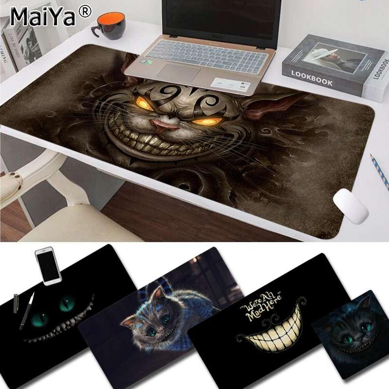 Maiya Custom Skin Cheshire Cat Rubber PC Computer Gaming Mousepad Free Shipping Large Mouse Pad Keyboards Mat