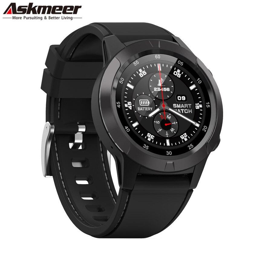 ASKMEER M4 Smart Watch Support SIM &Bluetooth Phone Call GPS Smartwatch Phone Men Women IP65 Waterproof Heart Rate Monitor Clock