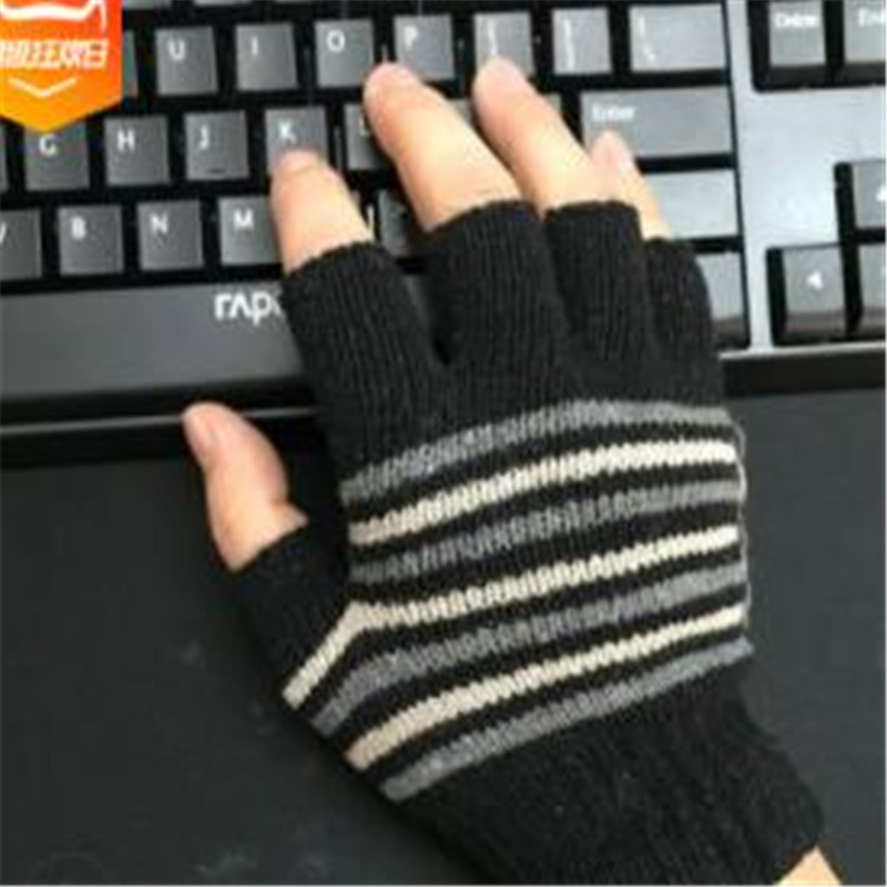 Vogue Of New Fund Of 2019 Winter Men Knitting Warm Wool Work Half Refers To Labour Protection Glove  Jt-19