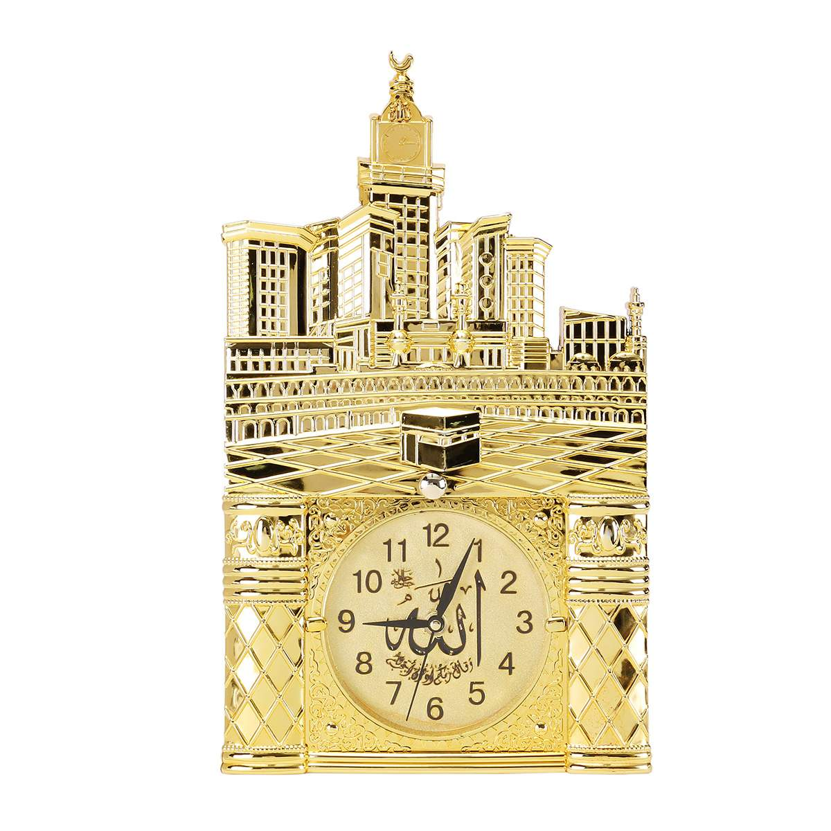 Islamic Wall Clocks Wall Hanging Muslim Prayer Arabic Vintage Islamic Mosque Ramadan Wall Clock Gift Home Room Decoration