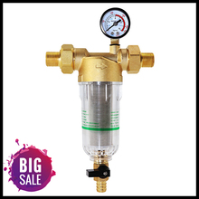 물 Pre 필터 시스템 2/5 인치 & 1 인치 황동 메쉬 Prefilter 정수기 승/감속기 어댑터 및 게이지