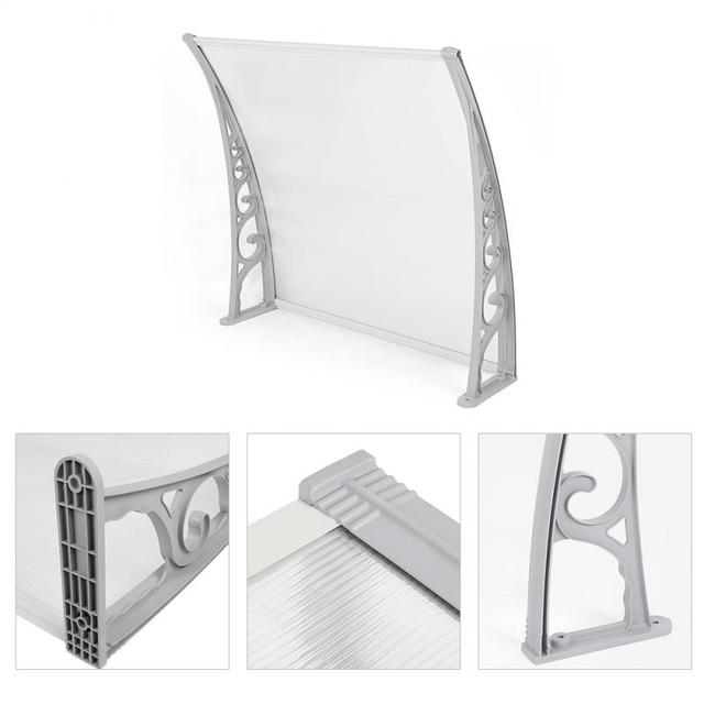Shade Window Door Sun Canopy Hollow Sheet Awning Protection Canopy Awning Shelter Porch Front Rain Roof