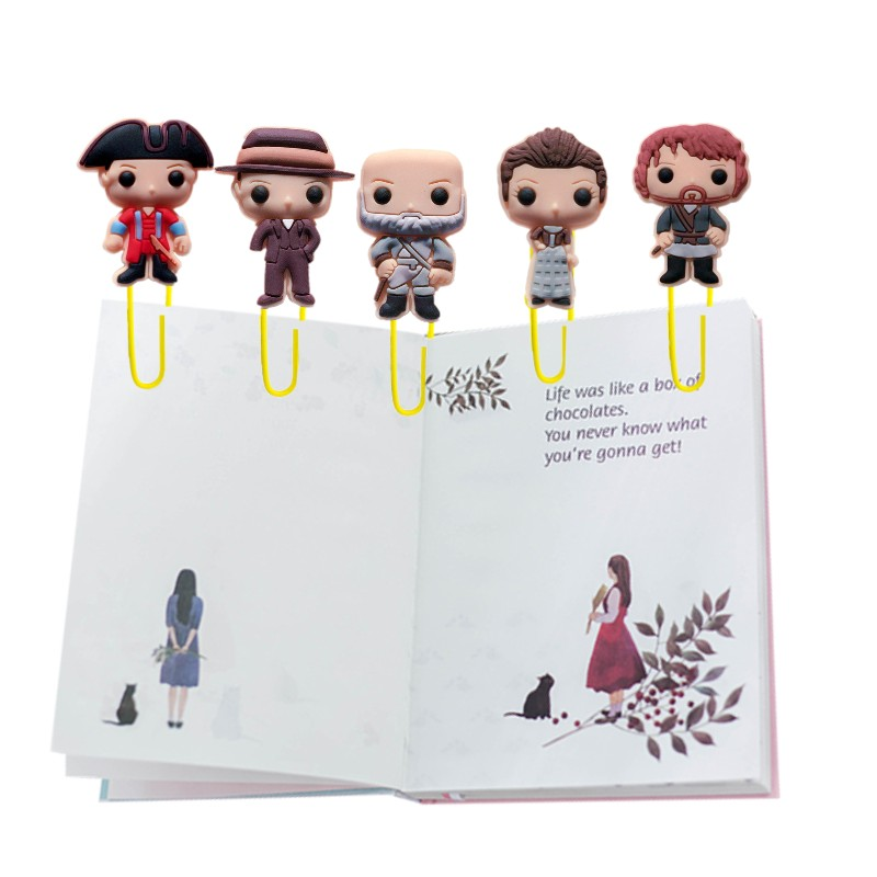 25pcs Outlander Bookmarks For Books Fantasy Paper Clips For Students Teacher Claire Jamie Book Marks Page Holder Kids Gift
