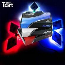 Tcart 1 комплект, Автомобильный светодиодный светильник, передний автомобильный эмблема, светильник s 4D, автомобильный значок, Автомобильный светодиодный светильник, EL холодные лампы для логотипов для Mitsubishi ASX для CUV