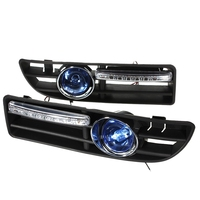 2Pcs Car LED Fog Light Bumper Grille with Switch for VW Jetta Bora Mk4 2000 2001 2002 2003 2004