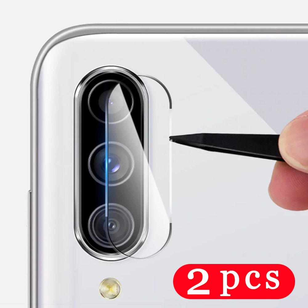 2Pcs Camera Lens for Samsung Galaxy M10 M20 M30 M30S M40 M11 M21 M21S M31 Prime M31S M51 on Glass phone screen protector Film