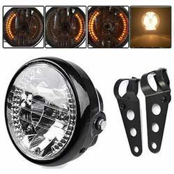 دراجة نارية تعديل المصابيح الأمامية الرجعية 7 بوصة الملاك الدائري المصابيح الأمامية ل هارلي بعيد بالقرب ضوء وظيفة التوجيه المصابيح الأمامية