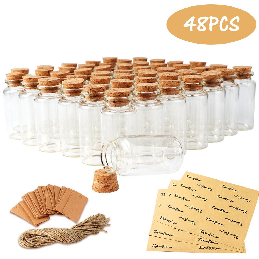 Forceful 25ml Mini Glass Bottle With Cork Clear Wish Bottle Hanging Decoration Wedding Centerpiece Favors Glass Bottle Jar Wedding Decor Relieving Heat And Sunstroke