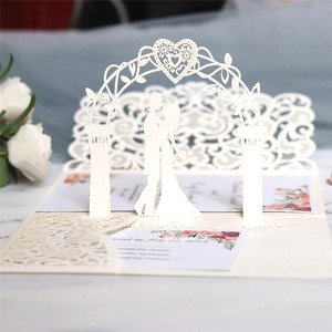 Image 2 - 10pcs Love 3D Pop UP Cards Valentines Day Gift Postcard with Envelope Stickers Anniversary Wedding Invitation Greeting Cards