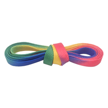 Weiou 8MM 30 Pairs Wholesale Rainbow Boots Canvas String Heat Transfer Polyester Printing Cord Top Accessory Luxury Unisex Lace