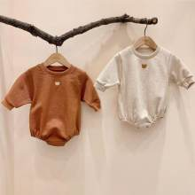 Newborn Baby Clothes Bear Print Bodysuit Boys Girls Long Sleeve Jumpsuit Cotton Baby Girl Clothing(China)