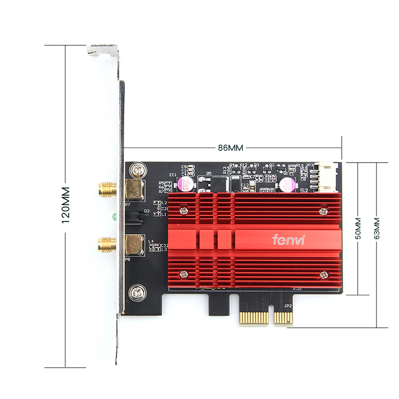 Image 5 - Dual Band Wireless AC Desktop PCI E Intel 9260AC 8265/8260AC 802.11ac 2.4G/5Ghz WiFi Bluetooth PCI Express Wireless WiFi Adapter-in Network Cards from Computer & Office