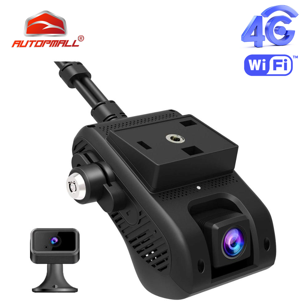 4G Car DVR Dash Camra Car Camera GPS Tracker AiVision Cam HD 1080P Dual Camera Remote Monitoring Live Streaming WiFi Hotspot