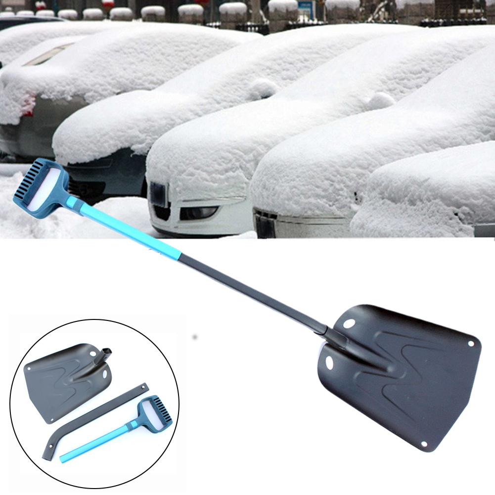 Camping Folding Snow Shovel Ice Remove Hiking Aluminium Alloy Winter Tools Garden Retractable D Shaped Handle For Car Outdoor