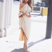Bogeda New 2019 Women Dresses Spring Summer Gold Long Dress Elegant Ladies Sexy Party Woman