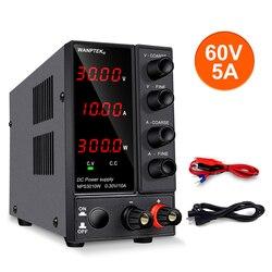 Adjustable DC Power Supply 30V 10A Voltage Regulator LED Digital laboratory Stabilizer Switching DC Power 60V 5A Bench Source