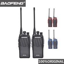 2 pçs 100% original baofeng rádio comunicador BF K5 walkie talkie hotel handheld transceptor cb rádio k5 presunto woki toki
