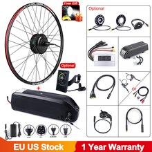 Bafang 48v 500w kit de conversão da roda traseira do motor do cubo da engrenagem da bicicleta elétrica sem escova com bateria da bicicleta 12ah e construída samsung celular