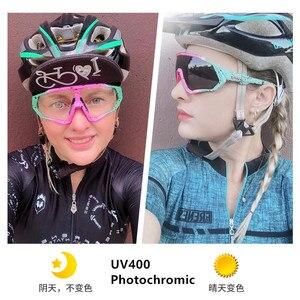Image 4 - Photochrome Radfahren Sonnenbrille Männer & Frauen Outdoor sport Fahrrad Brille Fahrrad Sonnenbrille Brille Brillen Gafas Ciclismo 1 Objektiv