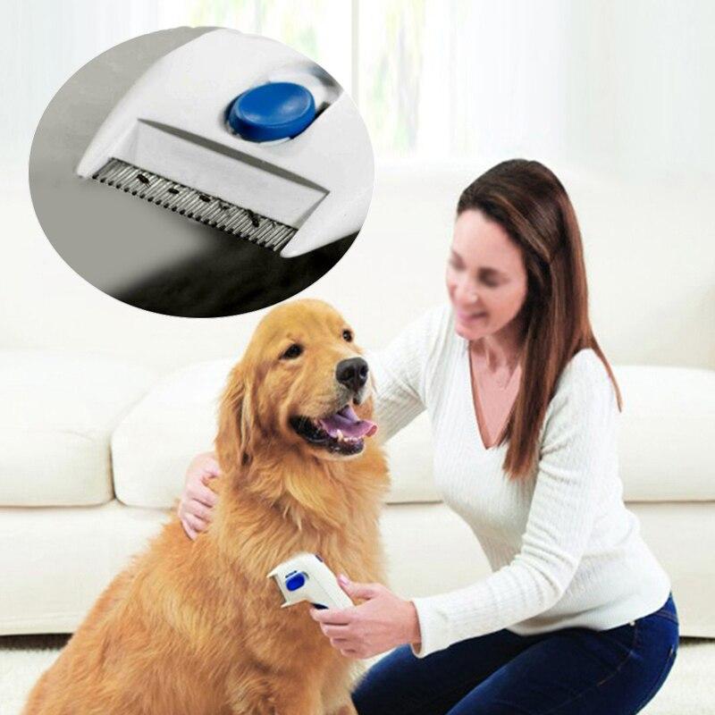 Electric Flea Comb Dog Cat Hair Brush Lice Cleaner Tick Killer font b Pet b font